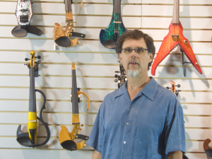 Blaise in Electric Violin Shop