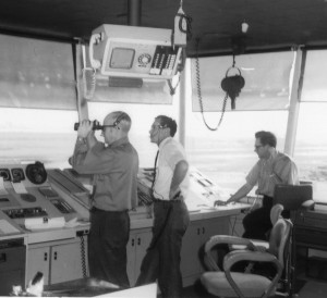 my Dad in PHL control tower, 1969